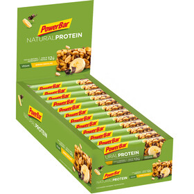 PowerBar Natural Protein Vegan - Nutrición deportiva - Banana Chocolate 24 x 40g